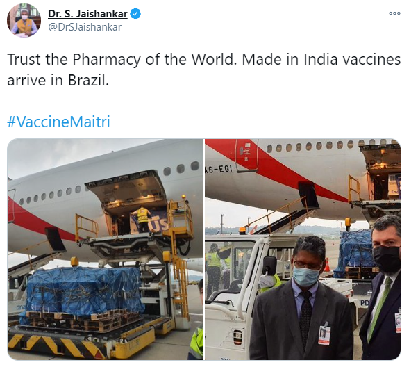India's first vaccine delivery to Bangladesh